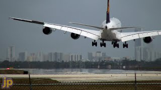 A380 Crosswind Hard Landing at Miami