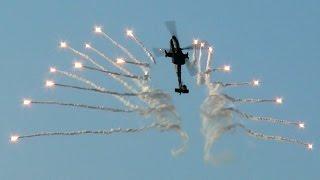AH-64D Apache Demo Team RNLAF Flares Belgian Air Force Days