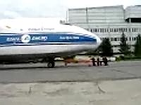 An 124 pushback by hand