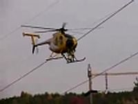 Power line Helicopter