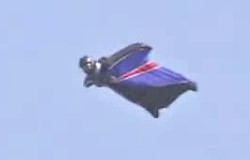 First Wingsuit Man to land successfully without parachute