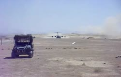 C-17 Cool Takeoff from Afghanistan Desert