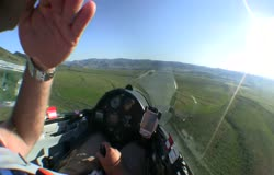 Glider Forced Landing in Tall Wheat Field