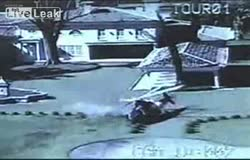Helicopter Crash Captured By Surveillance Camera 