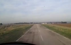 Light Plane Crash Filmed from the Cockpit