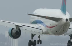 First Choice Boeing 767 Landing at BHX Extreme Gusting Winds