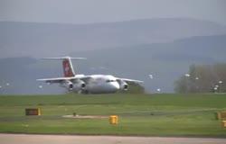 Swiss Avro RJ Dangerous Landing at MAN