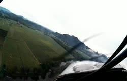 Ultralight hits own prop-wash at completion of a turn