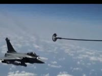 Rafale Refueling over the Mediterranean Sea