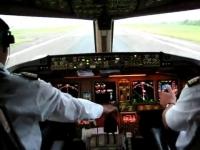 Boeing 777-300ER cockpit take off
