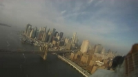 Radio Controlled Plane Flying Over New York City